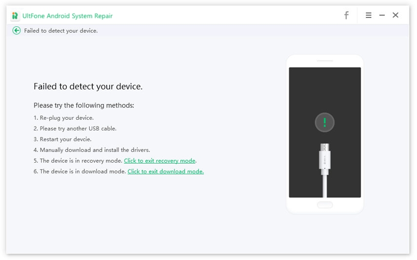 how to do when device is not detected
