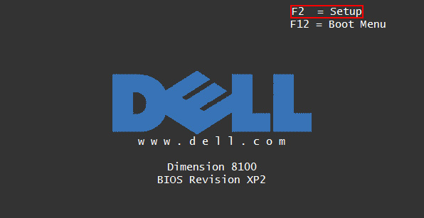enter bios on dell system