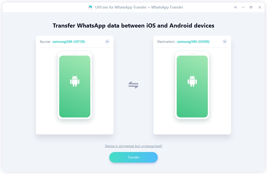 transfer whatsapp from android to android