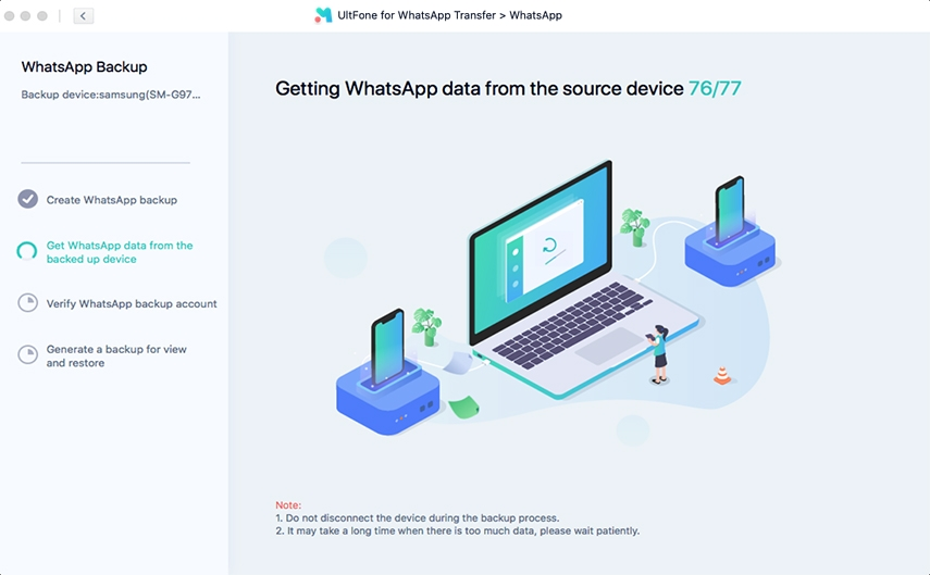 getting whatsapp data before backup