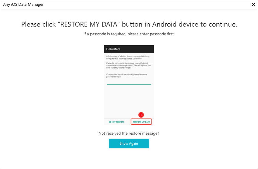 restore my data android