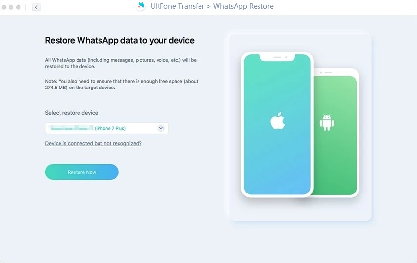 restore whatsapp to iphone