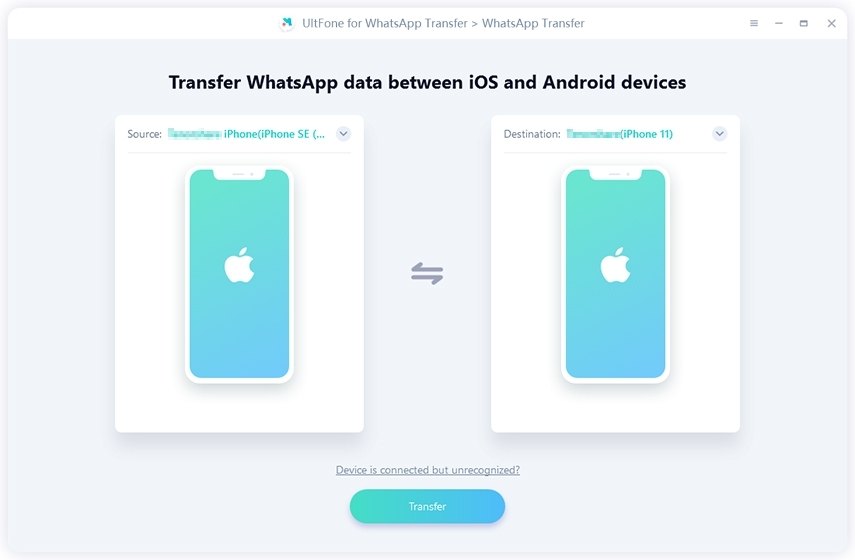 transfer whatsapp from iphone to iphone