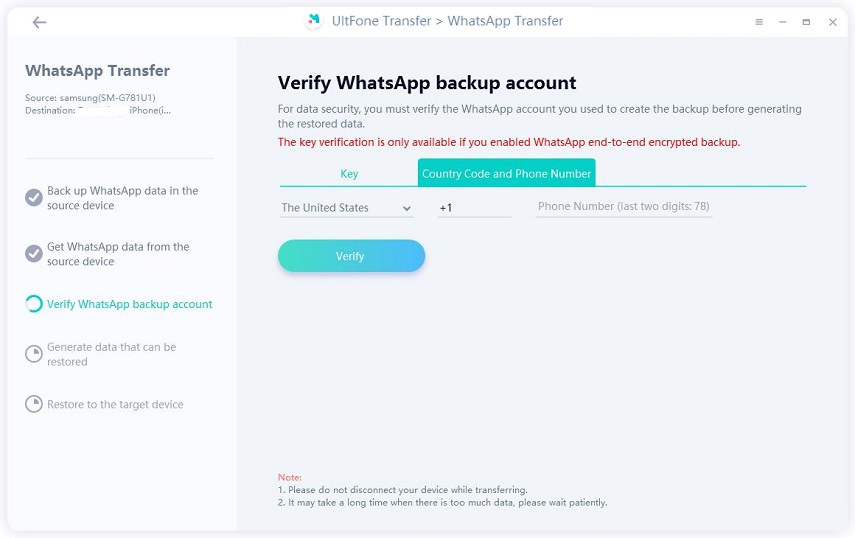 verify whatsapp account