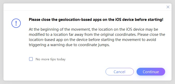 close geo based apps before spoofing