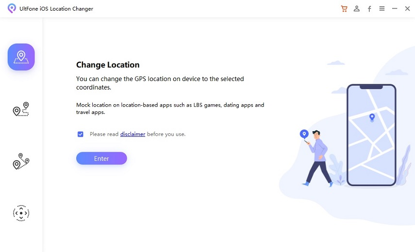 one click to change ios location