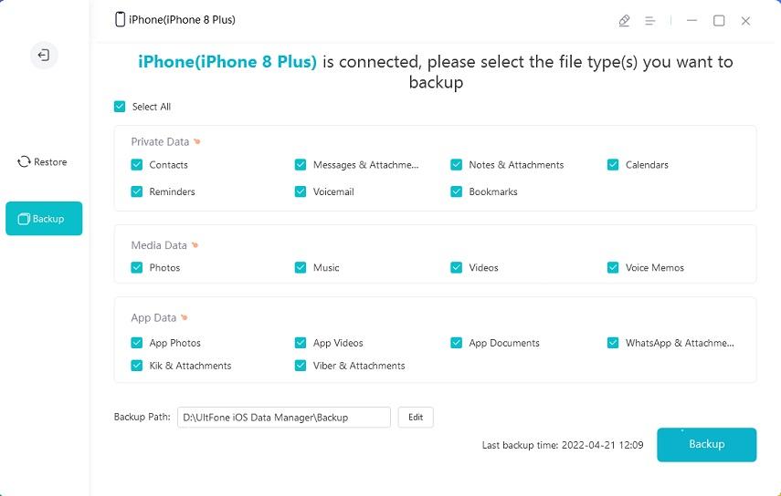 backing up iphone free