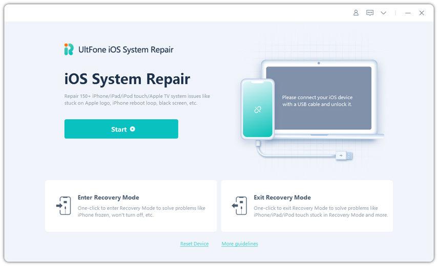 reiboot main interface