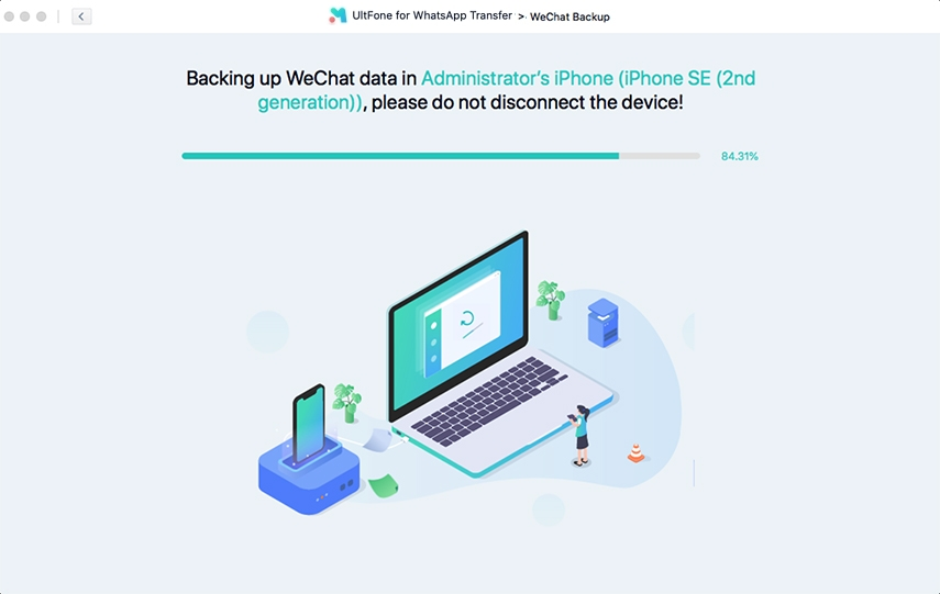 backing up wechat on iphone