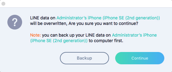 line data will be overwritten after restore