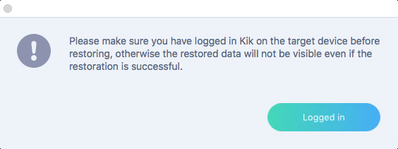log into kik account