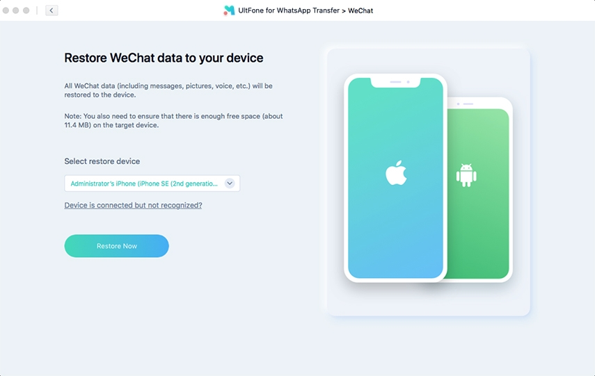 how to restore wechat backup to iphone