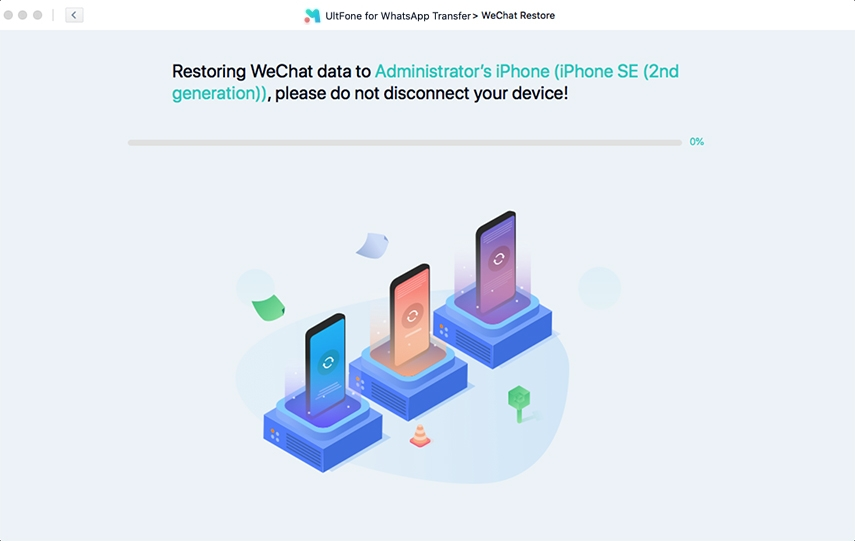 restoring wechat backup to iphone