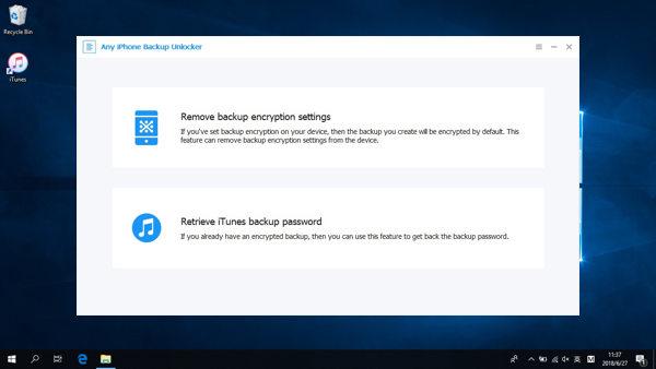 iPhone backup unlock tool