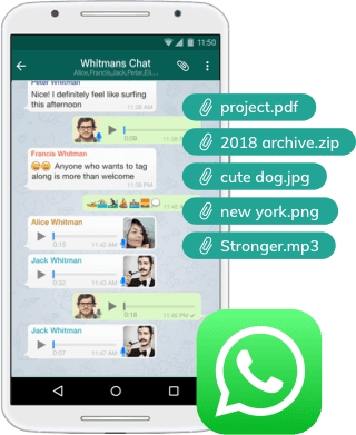 WhatsApp recovery on android without root