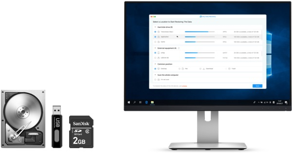 windows data recovery supports 550+ files