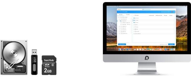 recover data on Mac after accidental deletion, hardware damage, system crash, virus,etc.