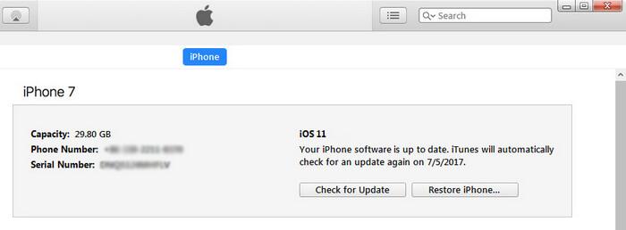 restaurer l'iphone 7
